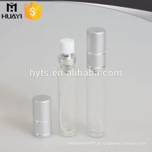 Tubo de vidro barato do perfume por atacado de 12ml / 15ml / 20ml com o tampão de alumínio da tira