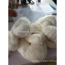 100% 2000den raffine rayon raffia blanc brut maté fil de raphia tectile spécial