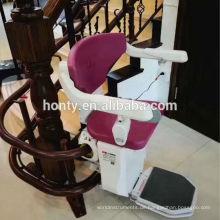 China CE genehmigt elektrischen Handicap Haus Aufzug Stuhl Treppenaufzug Preis