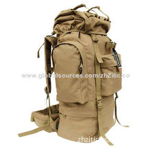 Mountaineering Backpack Army Military Bag with Easily Gripped Zipper Pulls