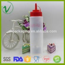 Salsa de embalaje vacía ronda apretón LDPE 700ml plástico cuentagotas botella