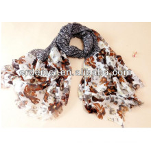 Ladies fashion scarf & stoles polyester