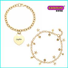 Bracelet de bijoux en or de charmes de gros personnalisés de nouvelle mode chinoise