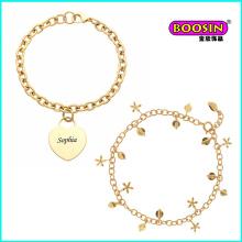 Pulseira de joias de ouro com joias da nova moda chinesa personalizada por atacado