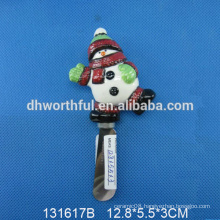 High quality ceramic Christmas snowman butter knife