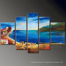 Современная картина маслом на морском пейзаже на холсте (SE-191)