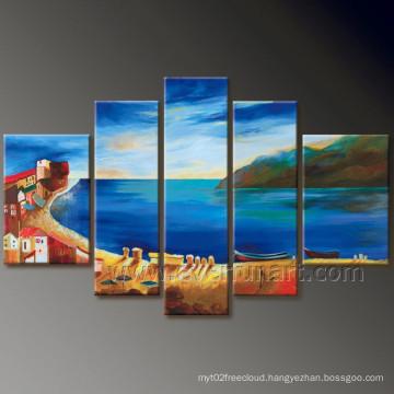 Modern Wall Decor Seascape Oil Painting on Canvas (SE-191)