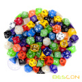 Wholesale Multi-colored Gemini Polyhedral Dice, Polyhedral Dice Set, RPG Dice Set