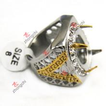 Großhandel Indonesien 316L Edelstahl Ringe für Herren Schmuck (SSR-07)