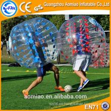 Mejor bola de parachoques de calidad balón inflable bola / burbuja balón de fútbol venta