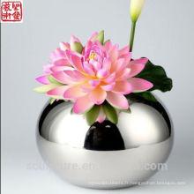 2016 Nouveau résumé Vase à fleurs moderne Décoration intérieure Vase en acier inoxydable