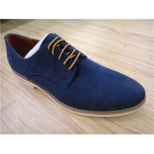 Zapatos de gamuza para hombre de oficina con cordones planos (NX 506)