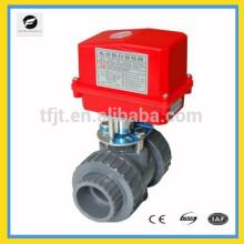 Vanne On-Off électrique d'UPVC DN50 / 63mm AC220V CTF-002 pour le projet de traitement de l'eau de catégorie industrielle