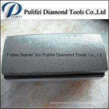 Bloc abrasif de diamant fritté de panneau en plastique de diamant en métal pour des pierres