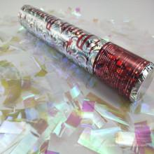 Partido Popper del cañón del confeti del copo de nieve de la hoja de plata de Halloween para la decoración de la Navidad