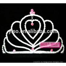 Tiara de la joyería del amante hermoso de los corazones