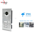 2018 Hot Sale IP65 Flush mounted Apartment Door Bell System IR CUT Night Vision Video Intercom For 3 Apartments