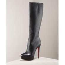 Bottes de genou à la mode des femmes à talons hauts (hcy02-087)