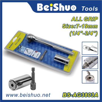 All Grip Universal Steckschlüssel mit Bohreradapter