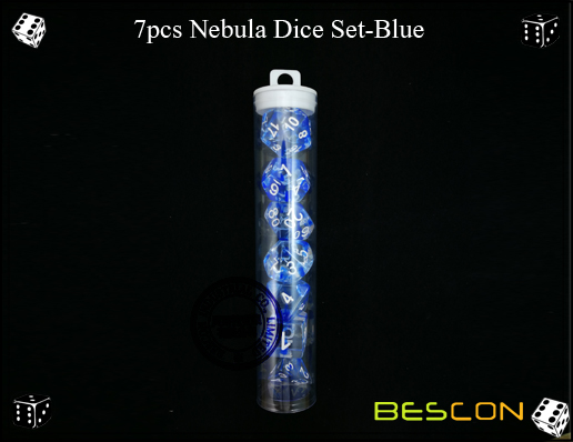 7pcs Nebula Dice Set-Blue-5