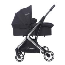 High Landscape Portable nouveau-né nacelle et siège auto poussette de luxe ensemble système de voyage landau bébé poussette