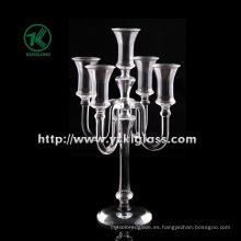 Titular de la vela de cristal para la decoración casera de BV (H: los 34CM)