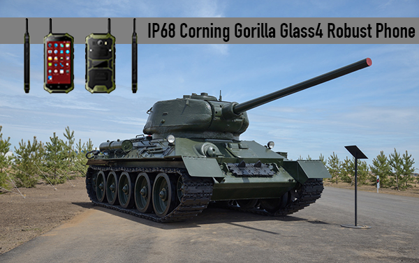 IP68 Corning Gorilla Glass4 teléfono robusto