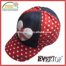 Chapeau et capuchon en coton à cinq panneaux avec impression cardiaque