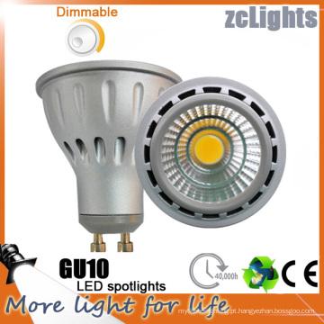 Dimmable LED GU10 com 7W COB LED Lâmpada