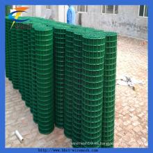 PVC recubierto de calidad verde cuadrado ampliamente soldado Wire Mesh Rolls