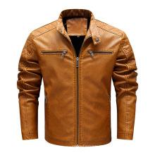 Jaquetas masculinas de couro personalizadas para motocicleta