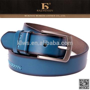 2015 correa de cuero ligera azul competitiva del producto caliente