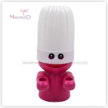 Suporte de escova de dentes de plástico de forma de chef (MLIE_HW_YSB_004)