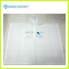 Poncho de chuva de PVC transparente