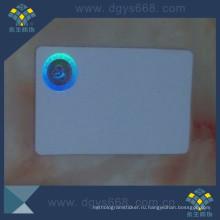 Hot Stamping Hologram Label on PVC Card