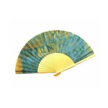 Ventilador relativo à promoção feito sob encomenda chinês da mão de bambu de 100%