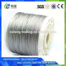 Steel wire rope made in China aisi 316 stainless steel wire rope