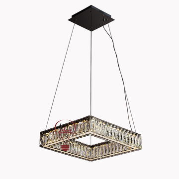 Pabrik K9 kristal Rectangle white Chandelier