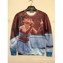 T-shirt à manches longues 3D Dancing Girl imprimé Casual