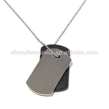 Wholesale Customized Blank Pendant Stainless Steel Dog Tag Pendant Necklaces Jewelry