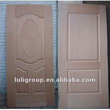 Engineered Teak and Oak Veneer Faced MDF/ HDF Door Skin