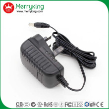 Merryking Brand Wall-Mount 12V 1A Adaptor UK Plug AC/DC Power Adapter