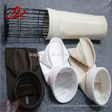 Bolsa de filtro de polvo de fibra no tejida de fibra de vidrio