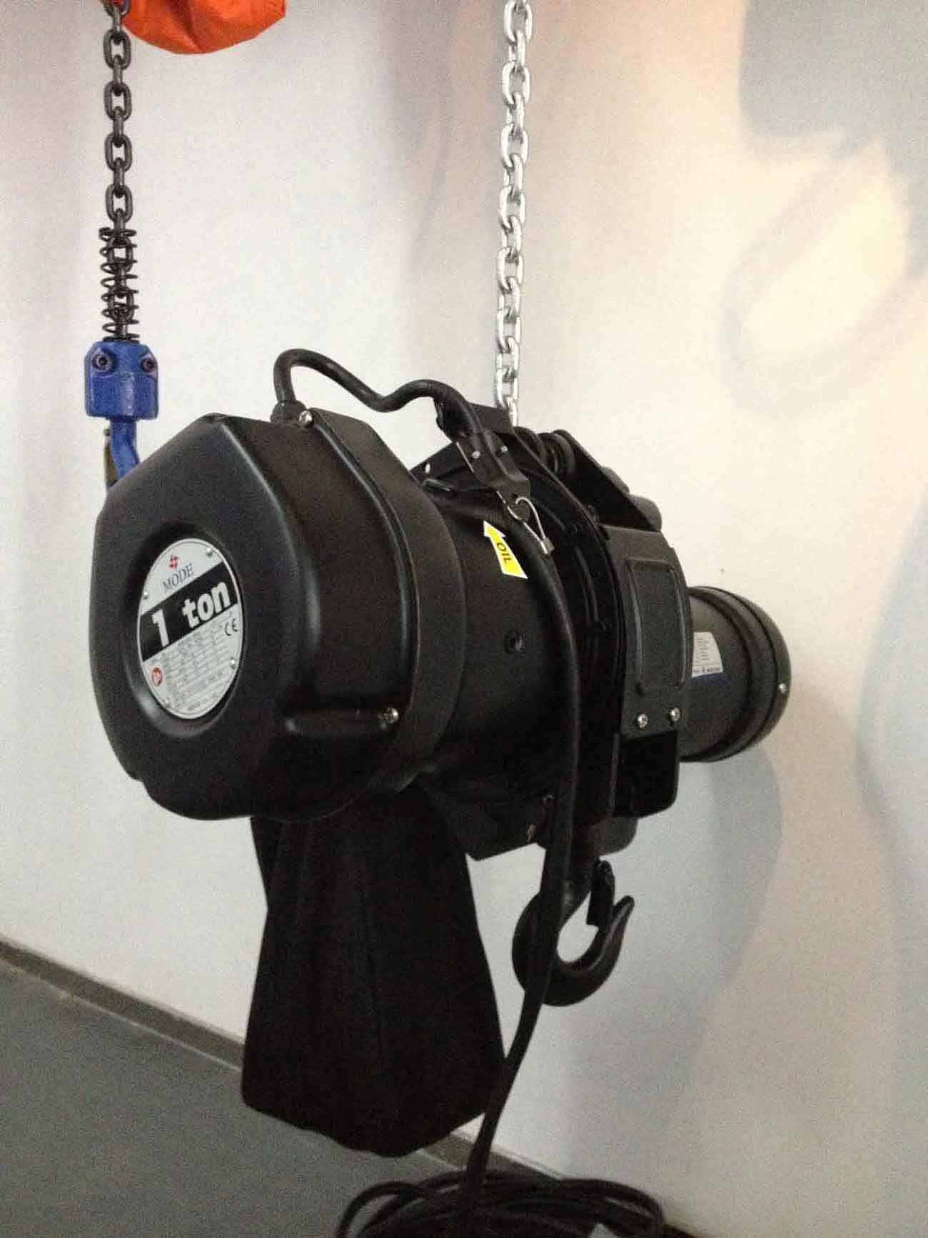 electric chain hoist stage