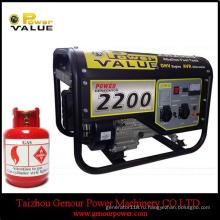 Газолина 2kw бензиновый генератор газовый Elemax