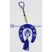Home Blessing Evil Eye Horse Shoe Car Door Wall Hanging Protective Luck