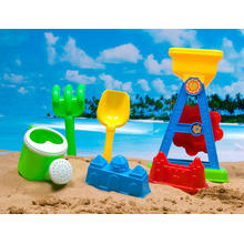Summer Outdoor Toy 7PCS Kids Plastic Sand Beach Set (H1336081)