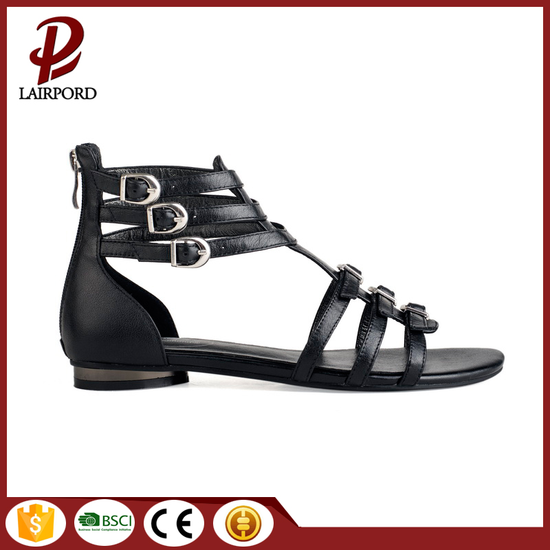 multi straps comfortable high quality flat sandals