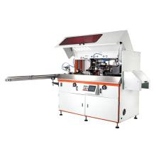 Máquina de serigrafía automática de botellas con secador UV