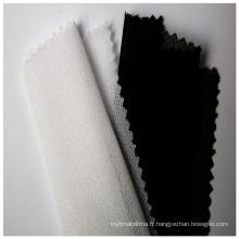 Entoilage tricoté en trame circulaire pour tissu en laine